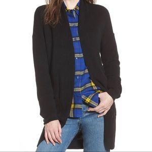 BP Curved Hem Open Cardigan Sweater